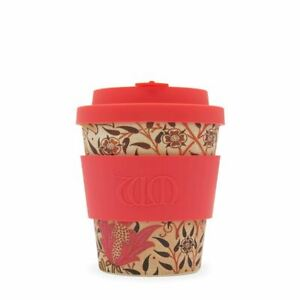 8oz 250ml William Morris Reusable Coffee Cups With Bamboo Fibre, Earthy Paradise