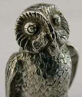 HEAVY ENGLISH SOLID STERLING SILVER OWL BIRD ANIMAL FIGURE 1973 58g DECENT SIZE