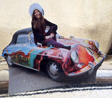 """Janis Joplin and Her Psychedelic 1965 Porsche 356C Tabletop Standee 8"""" Long"""