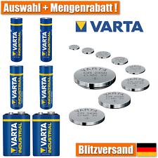 VARTA CR2016 CR2025 CR2032 CR2430 CR2450 A23 3V Knopfzellen AA AAA 9V Batterie