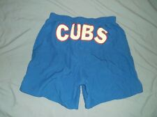 VTG 90's CHICAGO CUBS nylon shorts Med Blue MLB