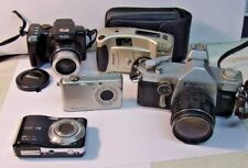 Mixed Lot of 5 Cameras for Parts or Repair -  RICOH KODAK FUJI POLAROID CASIO