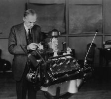 HENRY FORD V8 ENGINE GLOSSY POSTER PICTURE PHOTO car detroit made america 1195