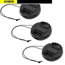 3x 72mm Snap-On Front Lens Cap Cover For Canon, Nikon, Sony, All 72mm DSLR Lense