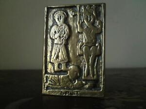Croatian (Split) Eastern Orthodox Church Brass Icon with  early Christan subject