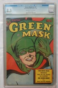GREEN MASK #V2 #4 CGC GRADED 8.5 OW/W PAGES 1946