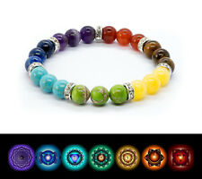 Anxiety Chakra Bracelet. Healing Beads Jewellery. Natural Reiki gift.
