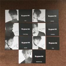 7pcs Kpop SuperM 1st Mini Album Jopping Signed Photocards BAEKHYUN TAEMIN TEN