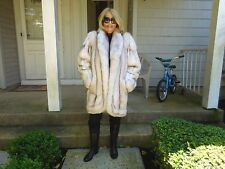 """NWTS"" ***HIGH QUALITY AND HIGH STYLING*** NORWEGIAN  BLUE FOX COAT SIZE M/LARGE"