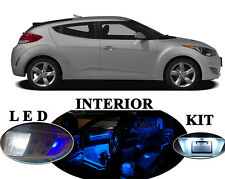 LED Package - Interior + License Plate + Vanity for Hyundai Veloster (10 pieces)
