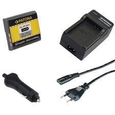Batteria Patona 960mAh + Caricabatteria casa/auto per Sony HDR-GW77VE,HDR-AS10