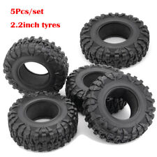 """5Pcs 120mm OD Rubber Tires Tyres for 2.2"""" wheel Rims Wraith D90 1/10 RC Crawler"""