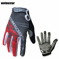 New Autumn Cycling Bike Special Bicycle 3D GEL Sports Full Finger Glove M-XL Red