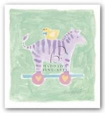 Zebra Toy Karen Anagnost Art Print 6x6