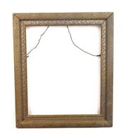 "Antique Art Nouveau Ornate Gold Gilt Gesso Photo Picture Frame Fits 11"" x 9"""