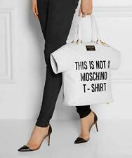 SALE! MOSCHINO Jeremy Scott This is NOT a Moschino T-Shirt Leather Handbag XL