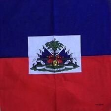 """Flag Bandana Of Haiti Haitan Headwarp National Bandana 22""""x22"""""""