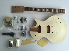 NEW DIY Electric Guitar Kit LP Mahogany Style Build Your Own Guitar Kit