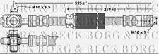 BBH6722 BORG & BECK BRAKE HOSE FRONT L/R fits Audi A2 1.4 2000- NEW O.E SPEC!