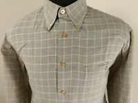 Scott Barber Mens Houndstooth Long Sleeve Button Down Shirt Size Large