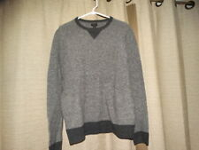 J CREW mens medium gray merino wool sweater excellent lightweight