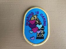 Girl Scout Patch - Sharing is Caring - New - Qty 1