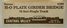 Central Valley #1903 Plate Girder Bridge 72' Single Track HO scale USED OPEN bag