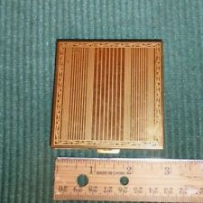 COLLECTIBLE, VINTAGE 1940's Volupte Gold Tone Compact Case/Mirror Original Puff
