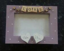 "Bespoke Personalised love Frame 6""x4"" scrabble art wedding valentine keepsake"