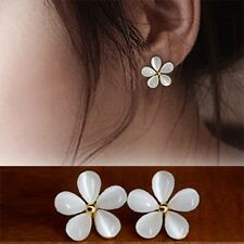 Women Five-Petals Ear Stud Earring Earrings Opal Earring Sakura Flower