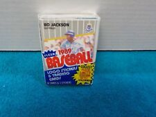 1989 Fleer Cello Pack Bo Jackson-Front;Tom Brookens-Back NM-MT