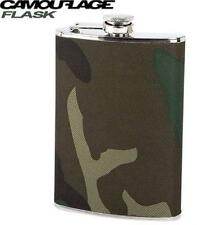 Camouflage 8 oz. Flask Camo Wrap Pocket Hip Whiskey