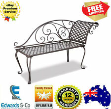 1.3M Outdoor Old World Bench Look Metal Garden Lounge Sofa Seat Chair Stool Park