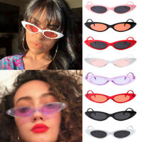 VINTAGE SMALL OVAL FRAME SUNGLASSES WOMEN'S RETRO FASHION SHADES TRENDY GLASSES