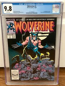 Wolverine #1 1988 CGC 9.8 1st Appearance PATCH 3717658007