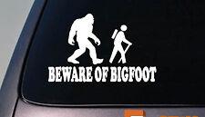 Beware of Bigfoot Decal Yeti Sasquatch camper Sticker hiking camping *D687*