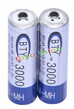 2x AA 3000mAh 1.2 V Ni-MH rechargeable battery BTY cell for MP3 RC Toys Camera