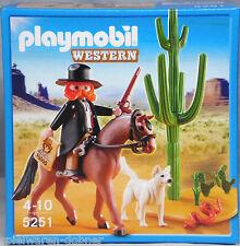 Playmobil Western 5251 Marschall Sheriff mit Hund Pferd Kaktus NEU NEW
