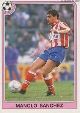 N°166 MANOLO SANCHEZ ATLETICO MADRID CROMO PANINI FUTBOL 93 STICKER LIGA 1993