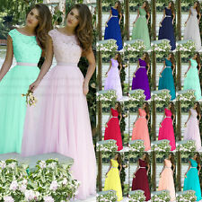 Charming Top with lace Evening Prom Party Dress Bridesmaid Dresses Size 6 ——18
