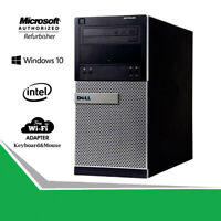 Dell Fast 3020 Tower Business Desktop Quad Core i5 8GB Computer PC HDMI WiFi Win