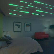 1Set/10pcs Kids Bedroom Fluorescent Glow In The Dark Meteor Wall Stickers PVC
