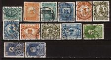 China Republic Early Commemorative Stamps Used Lot of 13 VF