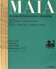 MAIA. RIVISTA DI LETTERATURE CLASSICHE n.s. anno XXIII