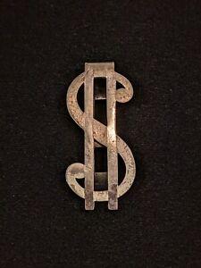 Vintage Swank Sterling Silver Money Clip Dollar Sign 12527