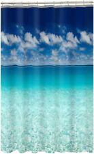 "Maytex Photoreal Escape Waterproof PEVA Shower Curtain 70x72"" Beach Summer House"
