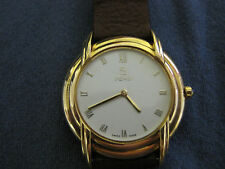 #384 FENDI mans gold plate quartz watch