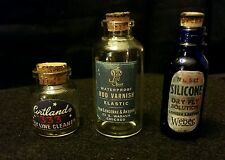 Vintage Style Fishing Glass Bottles.Set of 3.Artist Handcrafted Weber+2.Nice