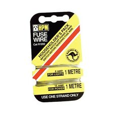 Fuse Wire Card HPM 8 15 Amp Light Power R1202 1 metre household pack New