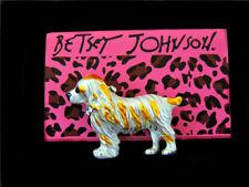 Betsey Johnson Fashion Yellow Crystal Enamel Cute Dog Charm Animal Brooch Pin